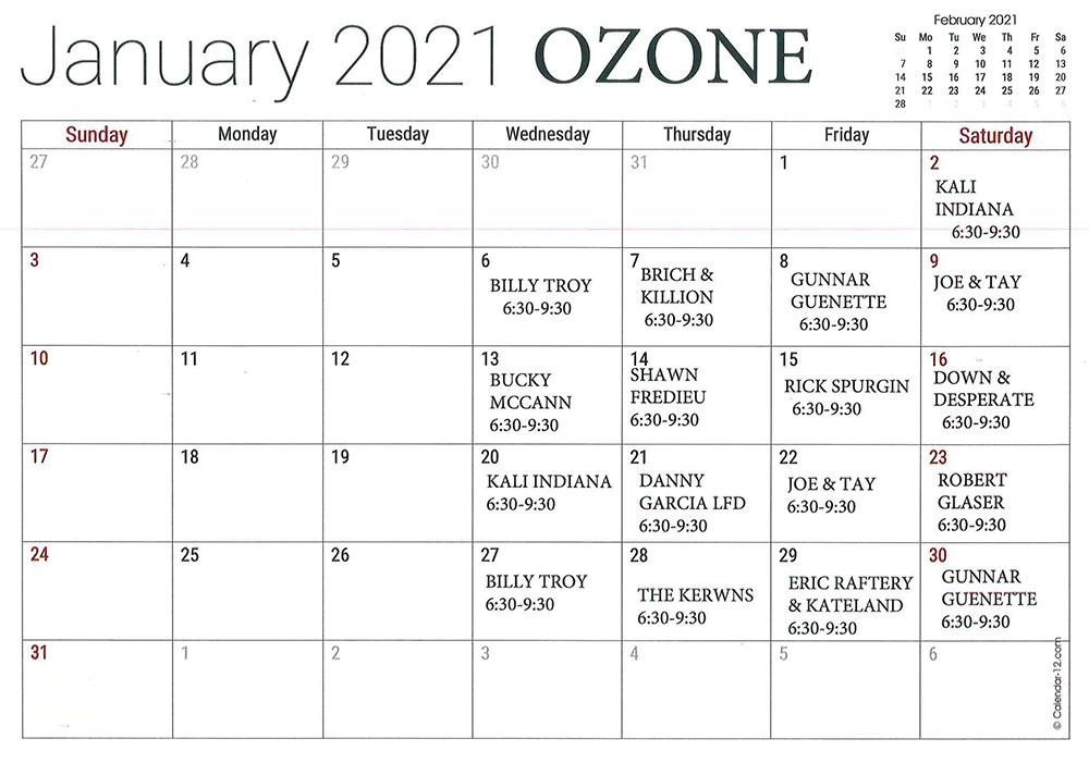 Ozone-January