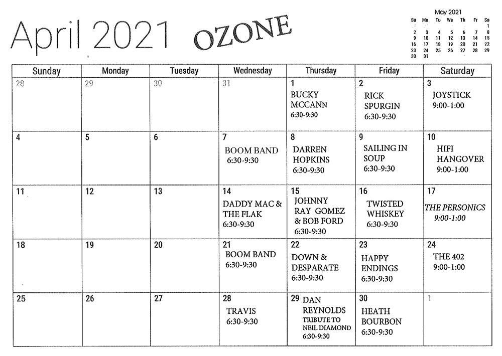 APRIL-OZONE
